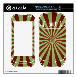 Red green rays nokia astound decal