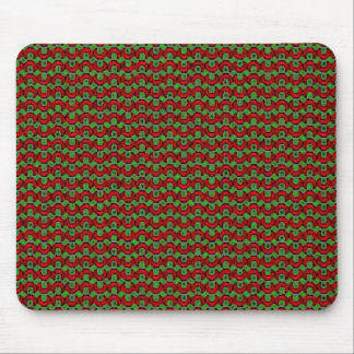 Red & Green Retro Christmas Mouse Pad