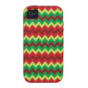 Red green shades chevron pattern iPhone 4/4S covers