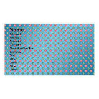 Red green snowflakes on blue fade business card template