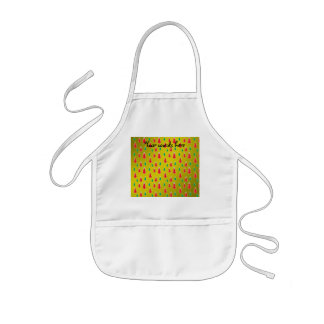 Red green snowmen on gold fade apron