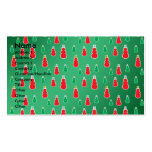 Red green snowmen on green fade Double-Sided standard business cards (Pack of 100)