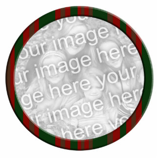 red green striped photo frame cutout
