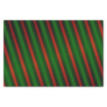 [ Thumbnail: Red & Green Stripes/Lines Tissue Paper ]