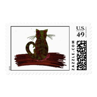 Red & Green Tabby Postage