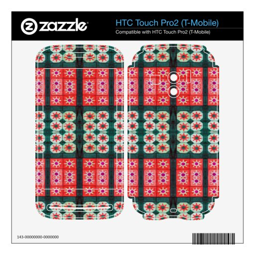 red green tile pattern HTC touch pro2 skin