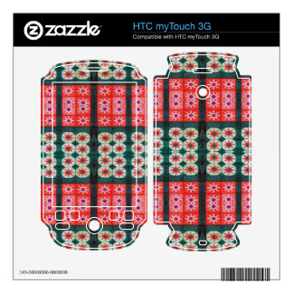 red green tile pattern HTC myTouch 3G decals