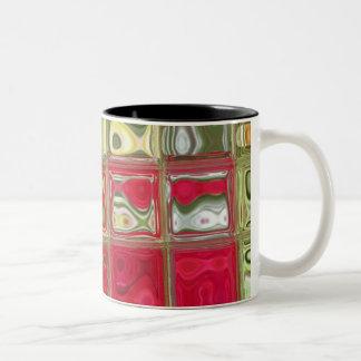 Red & Green Tiled Coffee Mug