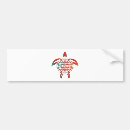 Red-Green-turtle Bumper Stickers