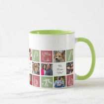 red green twelve photos collage Mod photo mugs