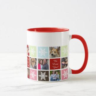 red green twelve photos collage Mod photo mugs