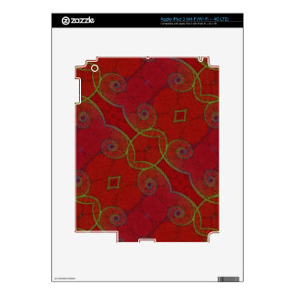 Red Green Twirls iPad 3 Skin