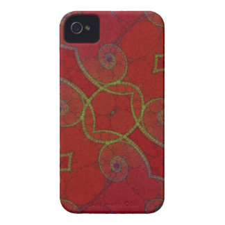 Red Green Twirls iPhone 4 Cover