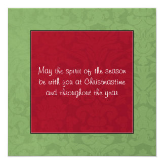 Red & Green Vintage Flat Holiday Cards