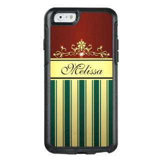 Red Green Vintage Floral OtterBox iPhone 6/6s Case