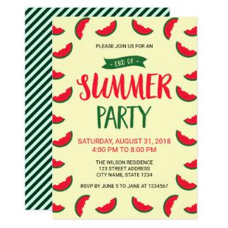 summer themed invitations