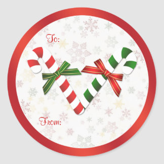 Red, green, white candycanes Christmas  Sticker