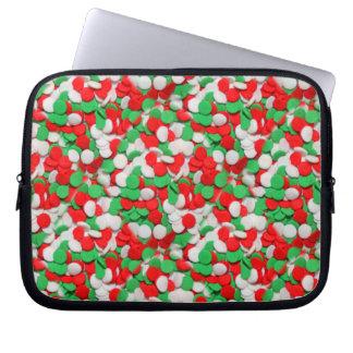 Red Green & White Christmas Sugar Cookies Laptop Sleeve