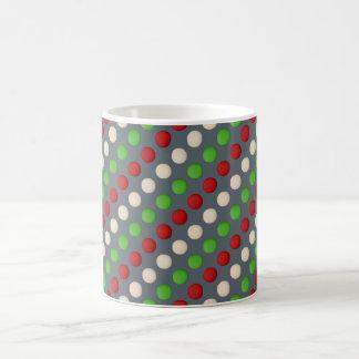 Red Green White Polka Dot Coffee Mug