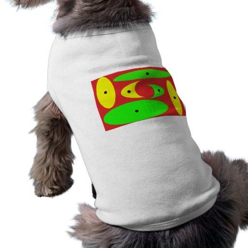 Red,Green,Yellow & Black Art Deco Doggie Tee Shirt
