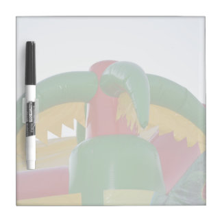 red green yellow blow up palm tree colorful design Dry-Erase board