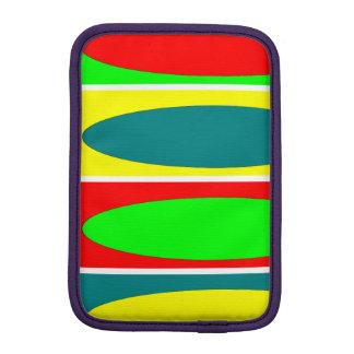 Red, green, yellow, Blue ovals Fractal art design iPad Mini Sleeves