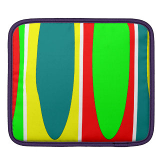 Red, green, yellow, Blue ovals Fractal art design iPad Sleeve