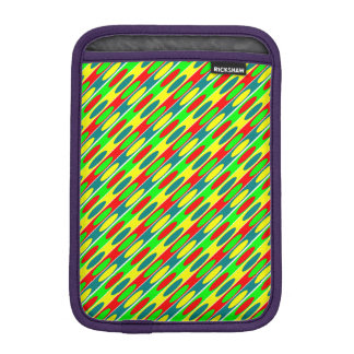 Red, green, yellow, Blue ovals Fractal art design Sleeve For iPad Mini