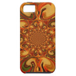 Red green yellow Cool Retro Vintage flowers design iPhone SE/5/5s Case