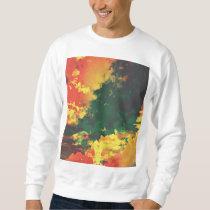 Red, green, yellow modern graphic design sweatshirt