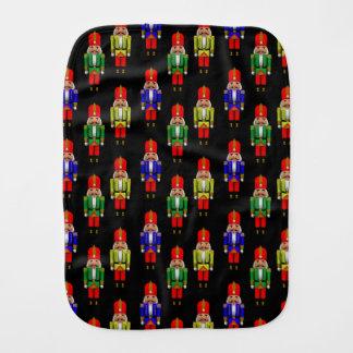 Red Green Yellow Nutcracker Tiled Pattern Baby Burp Cloth