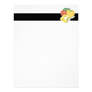 red green yellow peppers letterhead