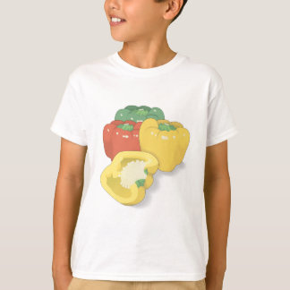 red green yellow peppers T-Shirt