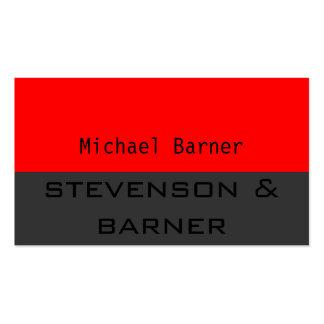 Red, Grey Black Out Business Card