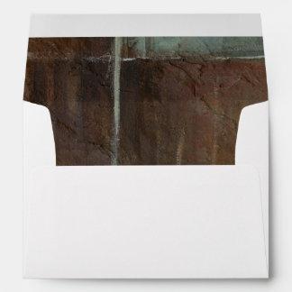 Red & Grey Brick Wall Envelope