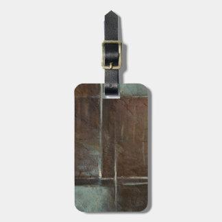 Red & Grey Brick Wall Luggage Tag