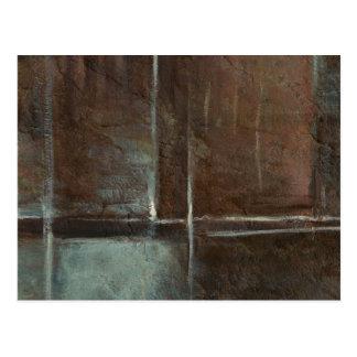 Red & Grey Brick Wall Postcard
