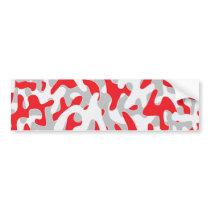 red grey Camouflage Pattern Bumper Sticker