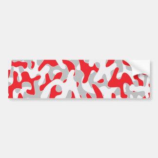 red grey Camouflage Pattern Bumper Sticker