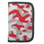 red grey Camouflage Pattern Folio Planner
