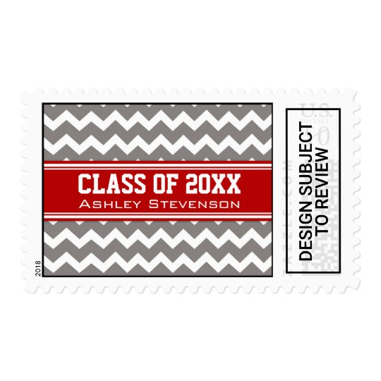 red grey chevrons graduation custom name stamps zazzle com