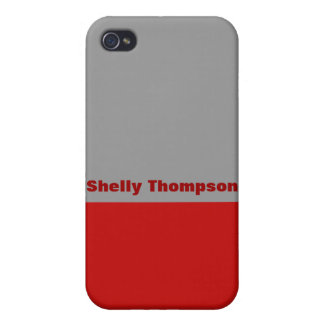 red grey color case for iPhone 4