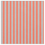 [ Thumbnail: Red & Grey Colored Pattern Fabric ]