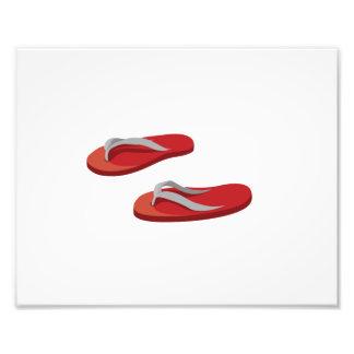red grey flip flops offset .png photo print