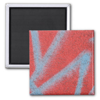 red grey paint 2 inch square magnet