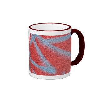 red grey paint coffee mug