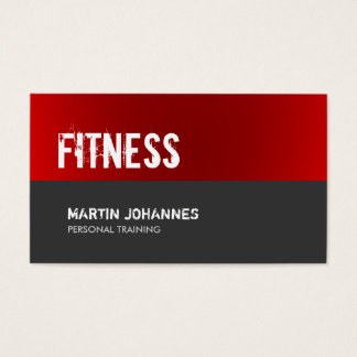 Red Grey Personal Trainer Standard Business Card