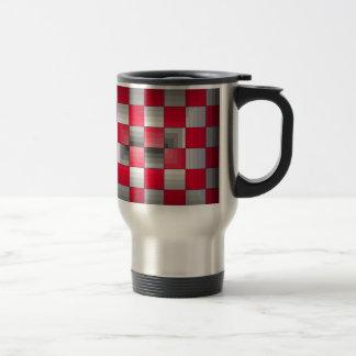 Red Grey Rally Flag Holiday Products Racing Fun Travel Mug