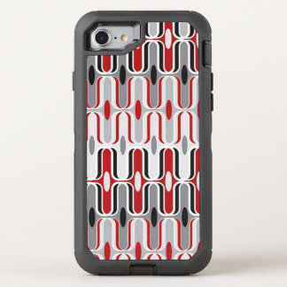 Red Grey Ripple OtterBox Defender iPhone 7 Case