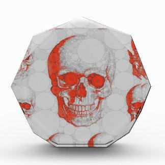 Red Grey Skulls Acrylic Award